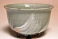 萩焼(伝統的工芸品)汁碗刷毛青丸