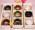 萩焼(伝統的工芸品)「萩彩和器」-彩季豆小鉢(もみじ)