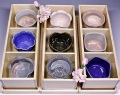 萩焼(伝統的工芸品)「萩彩和器」-彩季豆小鉢(さくら)