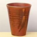 萩焼(伝統的工芸品)鉄赤釉筒