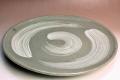 萩焼(伝統的工芸品)特大皿刷毛青丸