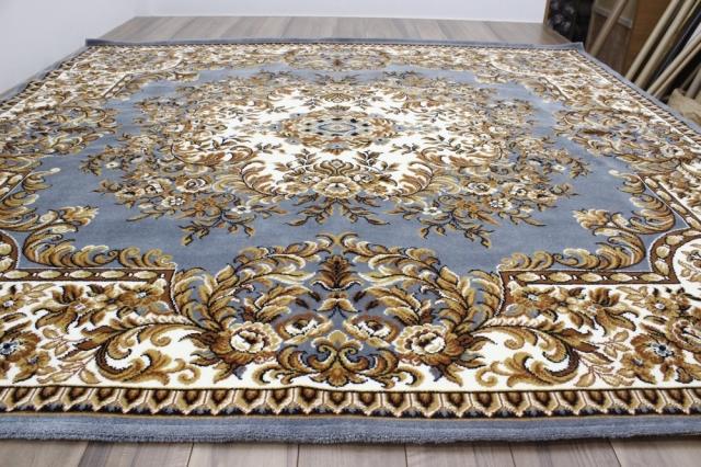 ≪少々難あり品≫日本製 ラグ 4.5畳 カーペット おしゃれ 絨毯 じゅうたん 激安 安い ベージュ グリーン アウトレット【品名 大空】 約4.5畳 255×255cm