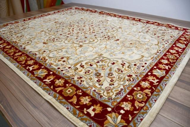 在庫処分品 極厚 ラグ 絨毯 おしゃれ 3畳 200×250 ラグマット アメリカン 厚手 カーペット じゅうたん オシャレ おすすめ  【品名 限定 カシャン/10006】 約3畳 200×250cm