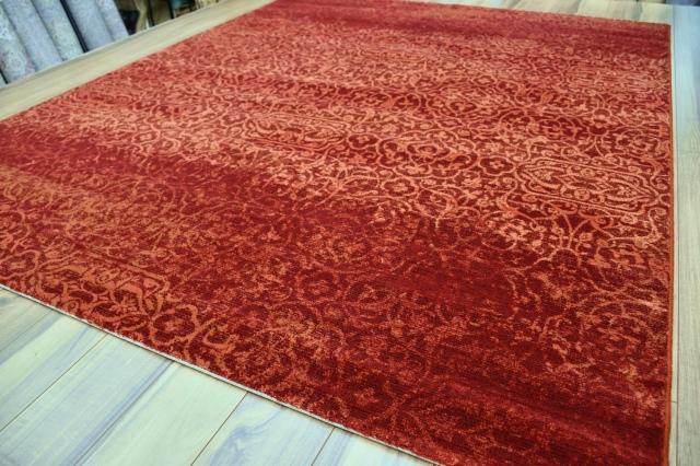 カーペット ラグ 3畳 200×250 絨毯 ベルギー ウール じゅうたん おしゃれ 高級 激安 安い ウィルトン クラシック 赤 レッド  【品名 OSTA/カシュカイ】 約3畳 200×250cm