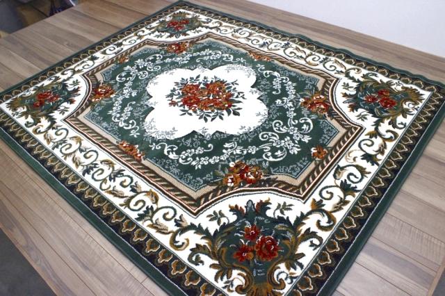 最終値下げ カーペット 6畳 ラグ ラグマット ベルギー 絨毯 じゅうたん おしゃれ レッド グリーン 赤 緑 安い 激安 クラシック NEW 【商品名 廃盤 SHIRAZ 1421】 約6畳 240×330cm