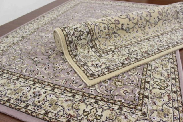 NEW!最高級イラン製天然ウール素材 ウィルトン織り 40万ノット カーペット ラグ 絨毯 じゅうたん 【品名 クロノス&ペシャワール】 約4.5畳 240x240cm