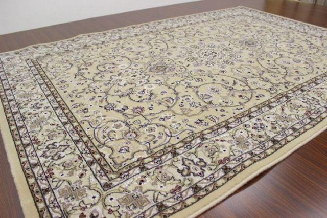 サンプル品が激安!3畳 最高級イラン製天然ウール素材 ウィルトン織り 40万ノット カーペット ラグ 絨毯 じゅうたん 【品名 クロノス】 約3畳 160x230cm