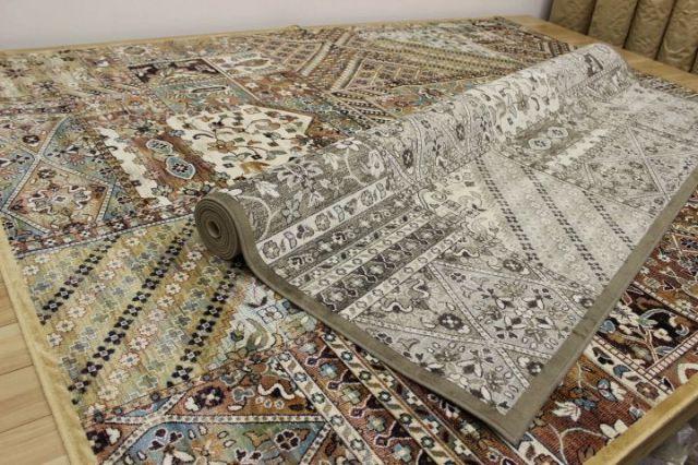 ベルギー製 モケット織り カーペット ラグ 【モスコ】 約2畳 195x195cm