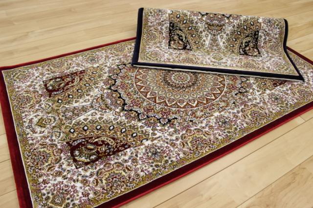 最高級ベルギー製ウィルトン織り 125万ノット 絨毯 カーペット ラグ 【コルディラ アコラド ルシアダ リボルノ】 ロングマット 75×240cm