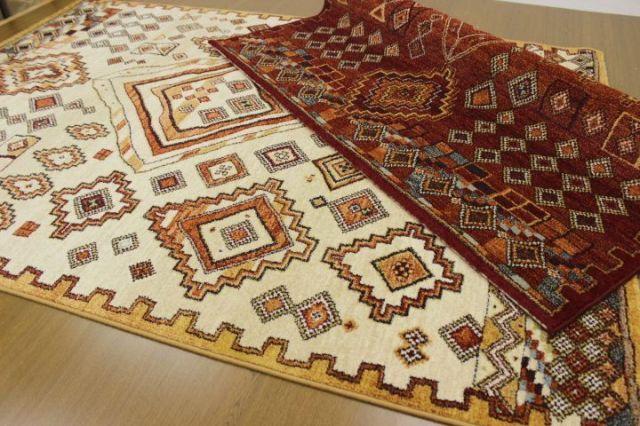 メーカー閉業品が激安!インディゴデザイン 数量限定品 ベルギー製 ウィルトン織り ラグ カーペット 絨毯 じゅうたん 【品名 ライラ】 約3畳 160×230cm