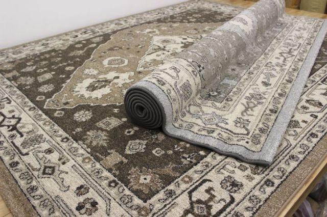 緊急大幅値下げ品! ベルギー製 ウィルトン織りギャベ柄 じゅうたん カーペット ラグ 【品名 ファラハン】 約8畳 340×340cm