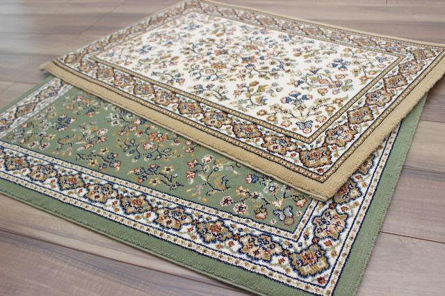 激安 玄関マット ベルギー製 35万ノット クラシック 高級 絨毯 【品名 廃盤 セーヌ】 サイズ 50×80cm