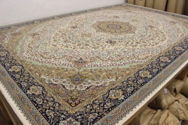 現品 最終プライス 極美品 イラン製 最高級 100万ノット 防炎 アクリル100% ウィルトン織り 絨毯 カーペット 【品名 レガシー】 約4.5畳 250×250cm