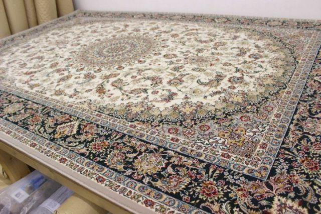 現品最終プライス 極美品 イラン製最 高級 70万ノット アクリル100% ウィルトン織り 絨毯 カーペット 【品名 マルス&サイード】 3畳床暖適応サイズ 200×300cm