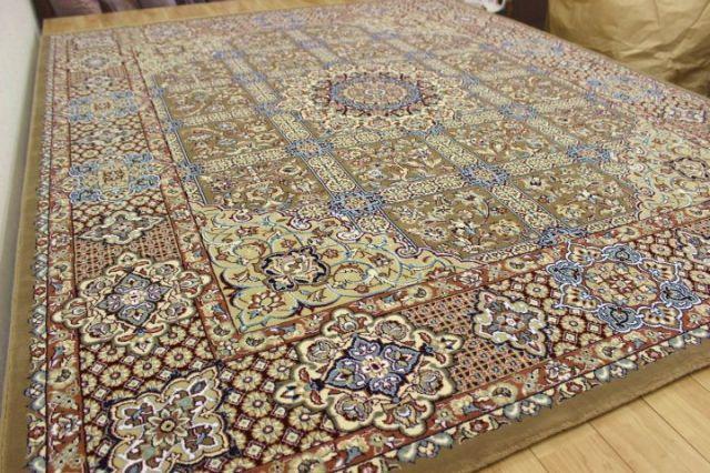 極美品の超目玉!ペルシャ イラン製 超高密度アクリル100%ウィルトン織り 60万ノット カーペット ラグ 絨毯 アウトレット 【品名 ペルシア 60 】 約3畳 150×220cm