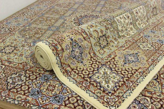 極美品の超目玉!ペルシャ イラン製 超高密度アクリル100%ウィルトン織り 60万ノット カーペット ラグ 絨毯 【品名 ペルシア 60 】 約3畳 200×250cm