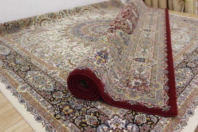 在庫のみ 極美品 イラン製 最高級 100万ノット アクリル100% ウィルトン織り 絨毯 カーペット 【品名 マフシード】 約4.5畳 250×250cm
