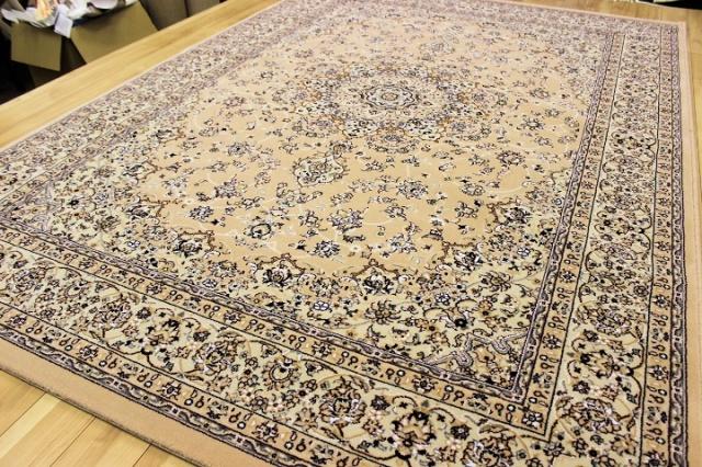 NEW!最高級イラン製天然ウール素材ウィルトン織り50万ノット絨毯 ラグ 【ケシャン】 約3畳床暖適応サイズ 200x290cm
