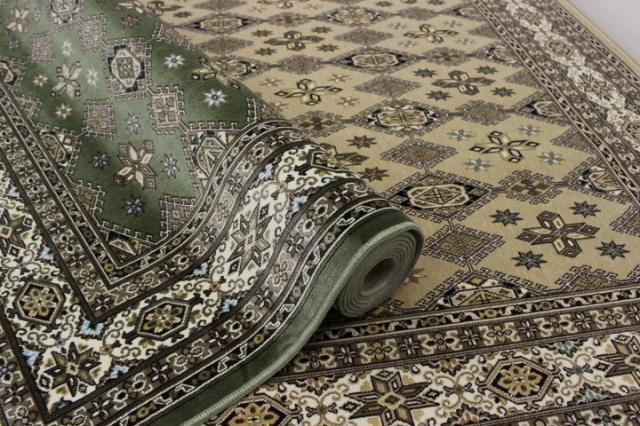 日本製 高級モケット織りカーペット ラグ 絨毯 【アポロ】 約2畳 185x185cm