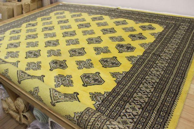 カーペット 絨毯 早い者勝ち!本物のパキスタン製 ウール100% 手織り緞通 現品限り 品名 PAKISTAN 約6畳 約243×305cm