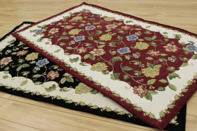 人気商品です!ベルギー製 シェニール ゴブラン織り 玄関マット 【マホニ】 カマチサイズ 33×120cm