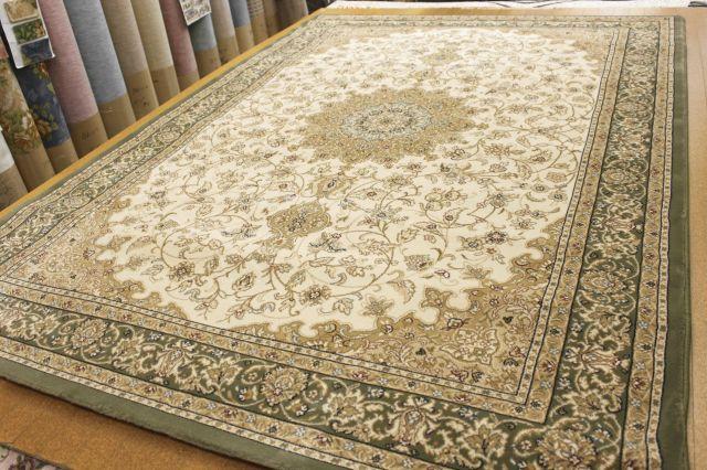 《値下げしました!》 廃盤品が激安 ベルギー製 ウィルトン織 50万ノット じゅうたん 絨毯 【品名 廃盤 レオ】 約4.5畳 240x240cm