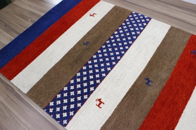 ギャベ  3畳 ギャッベ 絨毯 インド製 ウール緞通 ラグ マット カーペット 厚手 【品名 訳あり品 ギャベ緞通】