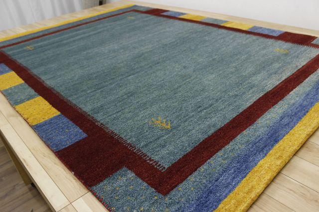 激安 3畳 ギャッベ 絨毯 インド製 ウール緞通 ギャベ ラグ マット カーペット 安い 厚手 【品名 ギャベ手織り緞通】 約3畳 約169×235cm