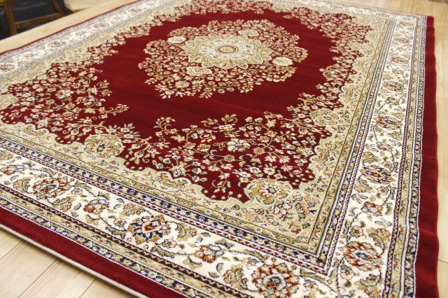 難あり ベルギー製 ウィルトン織り 35万ノット カーペット クラシック 厚手 長方形 絨毯 ラグ【品名 B品ダイナスティ】 約3畳 170×230cm