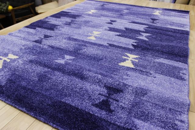 激安!ラグ モダン 青 ブルー 水色 ベルギー製 ウィルトン織り 3帖 カーペット 絨毯 【品名 廃盤 クーリオ 】 約3畳 160×230cm