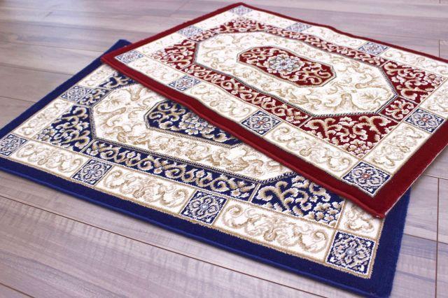激安 玄関マット ベルギー製 35万ノット クラシック 高級 絨毯 【品名 廃盤 ハイデル】 サイズ 60×90cm