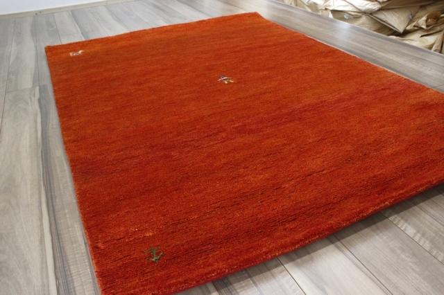 ギャベ  1.5畳 ギャッベ 絨毯 インド製 ウール緞通 ラグ マット カーペット 厚手 【品名 1点もの ギャベ緞通】 141×196cm
