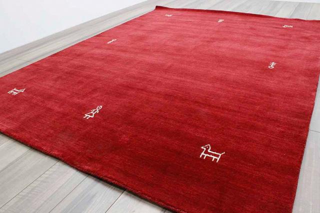 激安 3畳 ギャッベ 絨毯 インド製 ウール緞通 ギャベ ラグ マット カーペット 安い 厚手 【品名 ギャベ手織り】 約3畳 約171×235cm