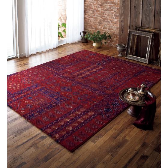 売れてる人気商品!ベルギー製 ウィルトン織り カーペット 絨毯 じゅうたん ラグ 【品名 KIRMAN】 約4.5畳 240x240cm