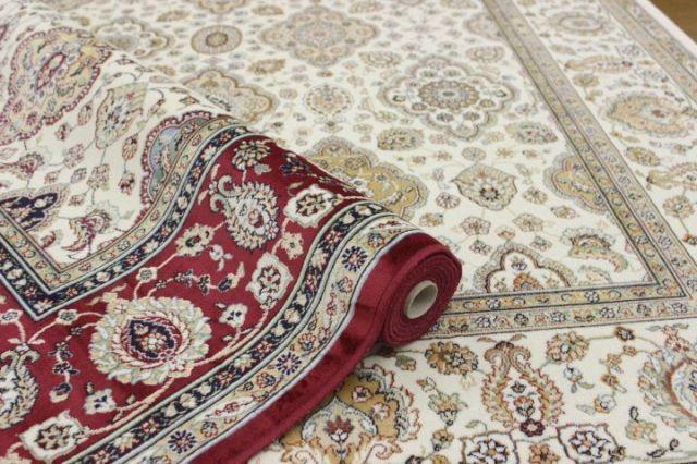 ベルギー製 モケット織り 6畳 カーペット ラグ クラシック おしゃれ 絨毯 じゅうたん 夏物 薄手 【品名 ロイヤルプレス】 約6畳 230x330cm