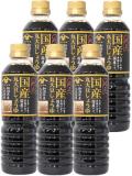 山崎醸造 国産丸大豆しょうゆ 500ml×6本