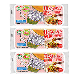 【定期購入】11ぴきのねこ納豆 極小粒4コパック×3セット