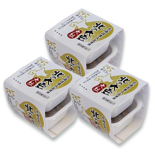 【30円お得】北の大豆 大粒納豆 40g×2個パック×3セット(たれ・からし付)