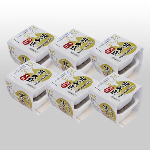 【定期購入】北の大豆 大粒納豆セット 2個パック×6セット(たれ・からし付)