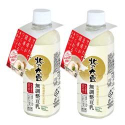 【定期購入】北の大豆 無調整豆乳 500ml×2本セット(にがり付)