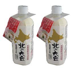 北の大豆 無調整豆乳(にがり付) 500ml×2本セット