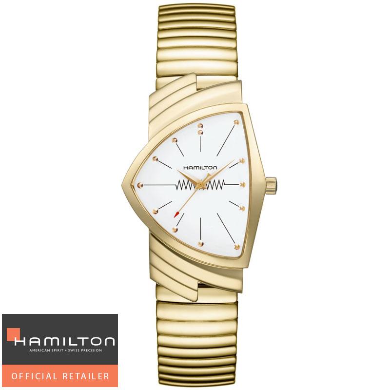 HAMILTON  ハミルトン 腕時計 Ventura Classic Quartz ベンチュラ フレックスブレスレットクォーツ H24301111 国内正規品メンズ