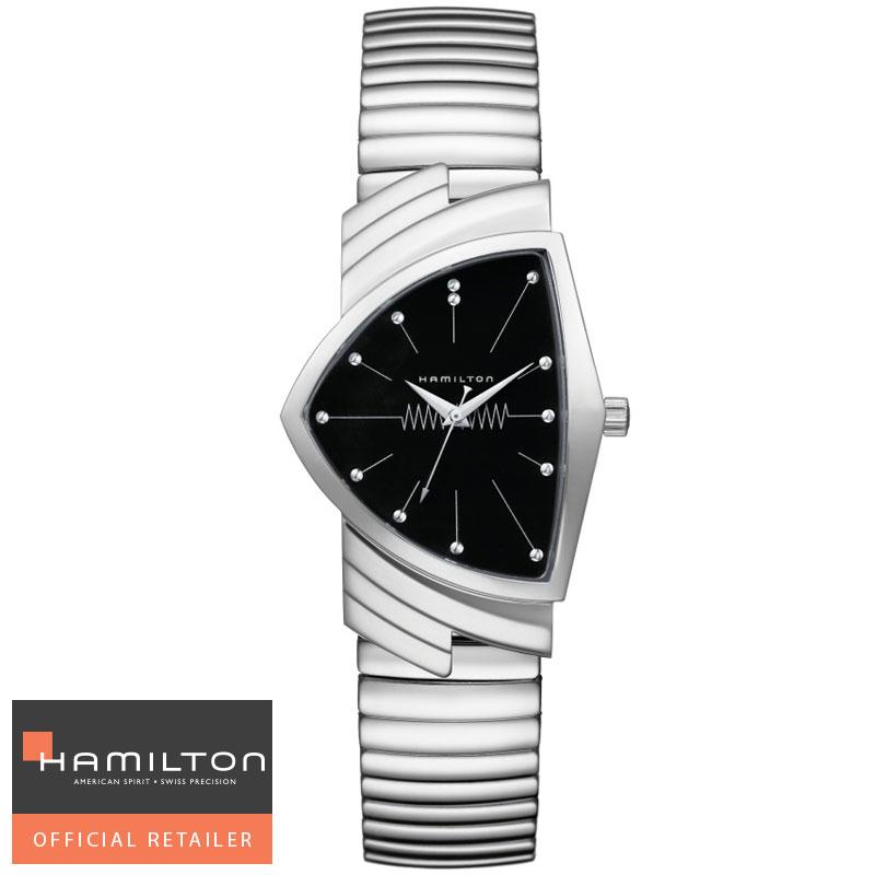 HAMILTON  ハミルトン 腕時計 Ventura Classic Quartz ベンチュラ フレックスブレスレットクォーツ H24411232 国内正規品メンズ