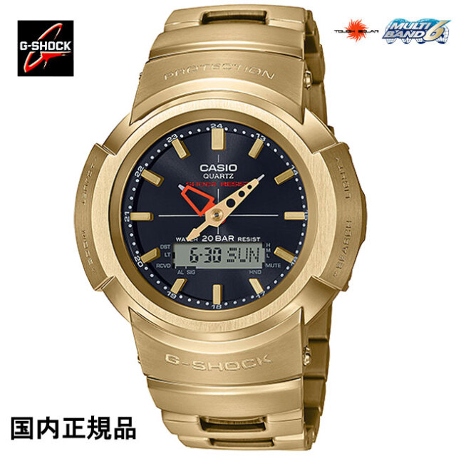 G-SHOCK ジーショック 腕時計デジタルアナログコンビネーションタフソーラー電波 AWM-500GD-9AJF ゴールドメンズウォッチ 国内正規品