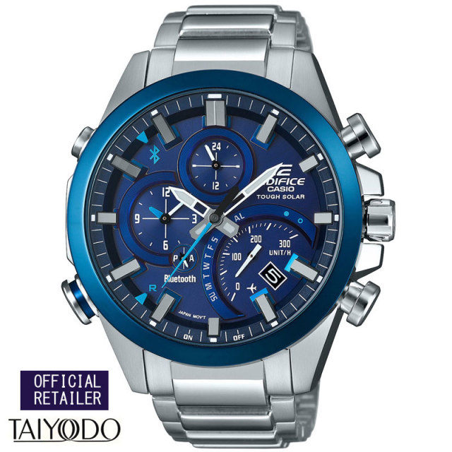 カシオ エディフィス 腕時計 EDIFICE モバイルリング ブルートゥース クロノグラフ  ソーラー EQB-501DB-2AJF メンズウォッチ国内正規品