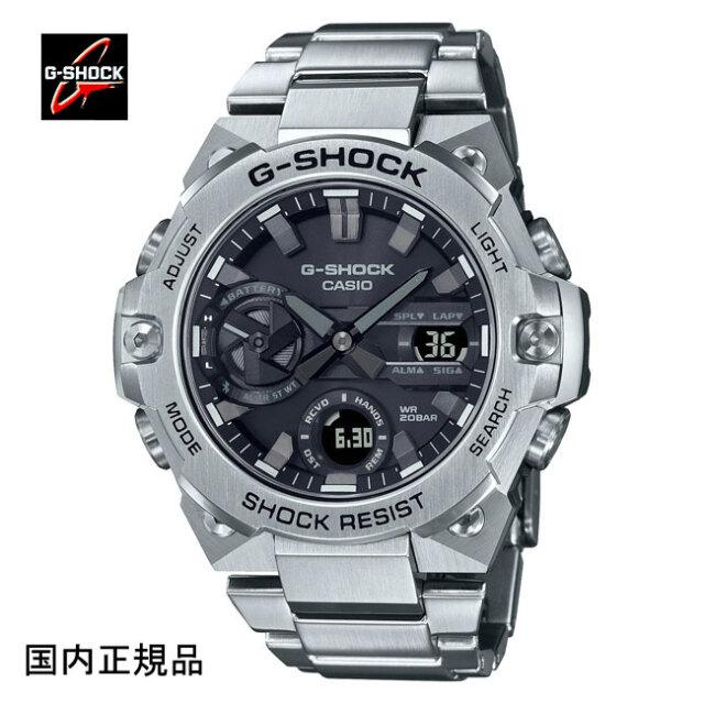 G-SHOCK ジーショック 腕時計 G-STEELソーラーBluetooth カーボンコアガード構造 GST-B400D-1AJF メンズ 国内正規品
