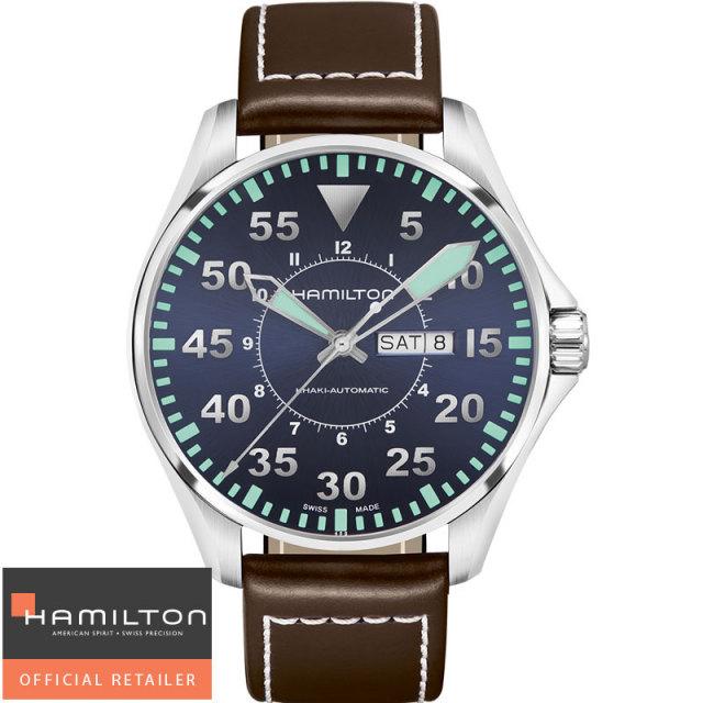 HAMILTON ハミルトン 腕時計 KHAKI カーキ パイロットオートデイデイト 44mm H64715545 国 内正規品