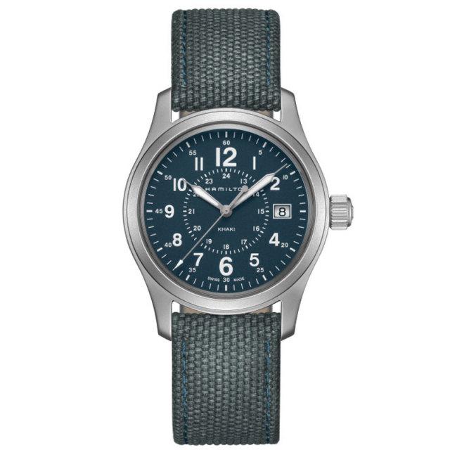 HAMILTON ハミルトン 腕時計 カーキ フィールドクォーツ 38mm ブルー H68201943 国内正規品
