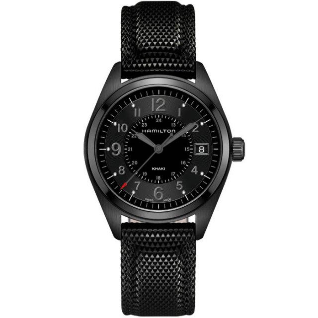 HAMILTON ハミルトン 腕時計 Khaki Field カーキ フィールド クォーツ  ブラックPVD 40mm H68401735 国内正規品