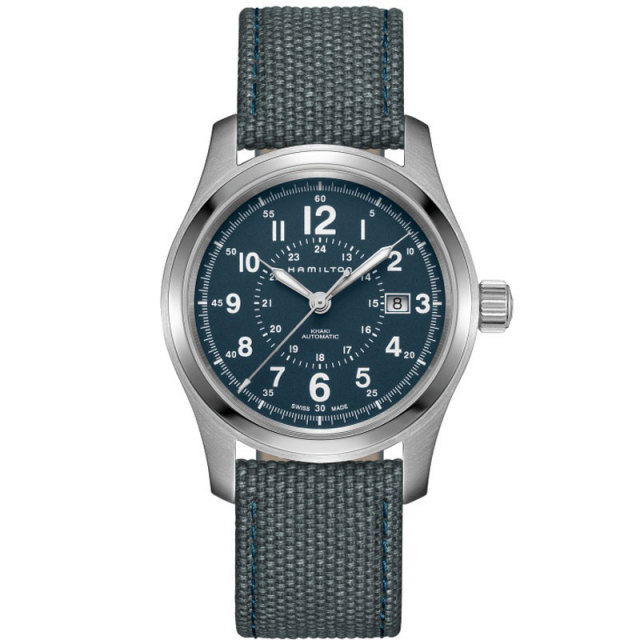 HAMILTON ハミルトン 腕時計 カーキ フィールドオート 42mm ブルー H70605943 国内正規品